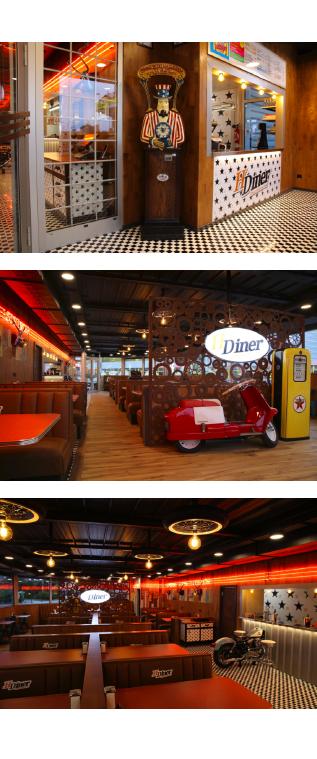 Un restaurant avec une ambiance fifties monté en partenariat avec Schéma-TEC SA